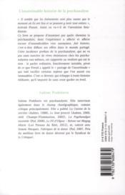 L'insaisissable histoire de la psychanalyse - 4ème de couverture - Format classique