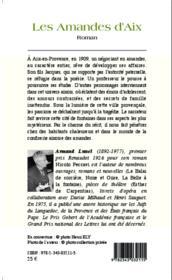 Les amandes d'aix roman - Couverture - Format classique