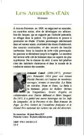 Les amandes d'aix roman - 4ème de couverture - Format classique
