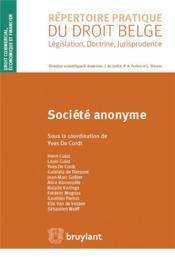 Société anonyme - Couverture - Format classique
