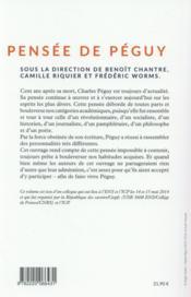 Pensée de Péguy - 4ème de couverture - Format classique