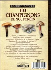 100 champignons de nos forêts - 4ème de couverture - Format classique