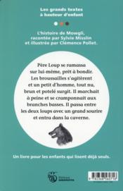 Mowgli ; d'après le Livre de la jungle de Rudyard Kipling - 4ème de couverture - Format classique