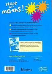 PLACE AUX MATHS ; mathématiques ; CE2 ; fichier de l'élève (édition 2008) - 4ème de couverture - Format classique
