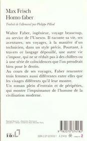 Homo faber - 4ème de couverture - Format classique