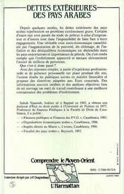 Dettes Exterieures Des Paysarabes - 4ème de couverture - Format classique