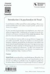 Introduction A La Psychanalyse De Freud 3e Edition - 4ème de couverture - Format classique