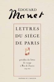 E-manet lettres siege de paris - Couverture - Format classique