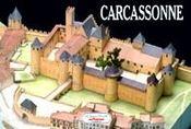 Carcassonne ; château fort - Intérieur - Format classique