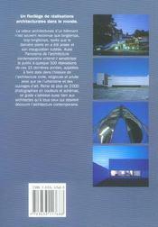 Panorama De L'Architecture Contemporaine - 4ème de couverture - Format classique