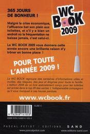 WC book (édition 2009) - 4ème de couverture - Format classique