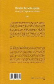 Histoire du Fouta-Djallon t.1 ; des origines à la pénétration coloniale - 4ème de couverture - Format classique