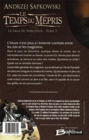 La saga du sorceleur T.2 ; le temps du mépris - 4ème de couverture - Format classique