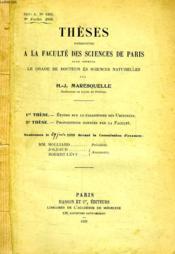Etudes Sur Le Parasitisme Des Uredinees, These - Couverture - Format classique
