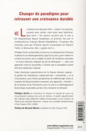 Finance : le nouveau paradigme ; comprendre la finance et l'économie avec Mandelbrot, Taleb,... - 4ème de couverture - Format classique