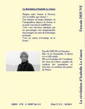 La révélation d'Isabelle Le Guern - 4ème de couverture - Format classique