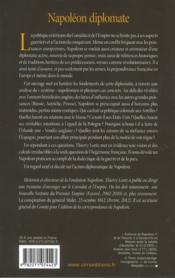 Napoléon diplomate - 4ème de couverture - Format classique