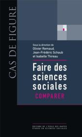 Faire des sciences sociales t.2 ; comparer - Couverture - Format classique