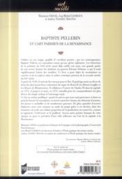 Baptiste Pellerin et l'art parisien de la Renaissance - 4ème de couverture - Format classique
