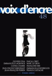 Revue Voix D'Encre N.48 - Couverture - Format classique