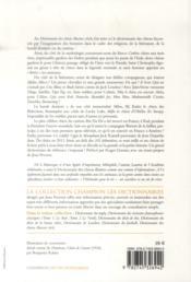 Dictionnaire des chiens illustres, à l'usage des maîtres cultivés t.2 ; chiens de fiction et portés en fiction - 4ème de couverture - Format classique