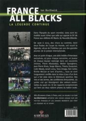 France-all blacks ; la légende continue ! - 4ème de couverture - Format classique