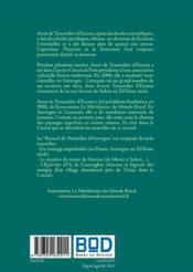Recueil de nouvelles d'Auvergne - 4ème de couverture - Format classique