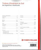 Timbres d'Amérique du sud ; de Argentine à Venezuela (édition 2014) - 4ème de couverture - Format classique