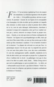 Revue La Clinique Lacanienne N.25 ; Folies Du Désir - 4ème de couverture - Format classique