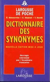 LAROUSSE DE POCHE ; dictionnaire des synonymes - Intérieur - Format classique