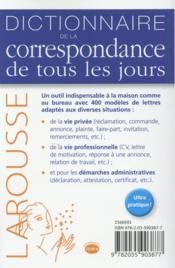 Dictionnaire de la correspondance de tous les jours - 4ème de couverture - Format classique