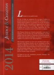 Justice & cassation 2014 ; dossier : la loyauté - 4ème de couverture - Format classique