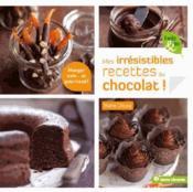 Mes irrésistibles recettes au chocolat - Couverture - Format classique