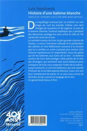 Histoire d'une baleine blanche - 4ème de couverture - Format classique