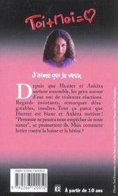 Toi+moi=coeur T.21 ; J'Aime Qui Je Veux - 4ème de couverture - Format classique