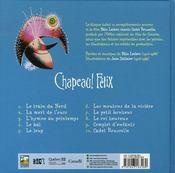 Chapeau ! Félix - 4ème de couverture - Format classique