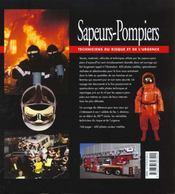 Sapeurs-pompiers, techniciens du risque et de l'urgence - 4ème de couverture - Format classique