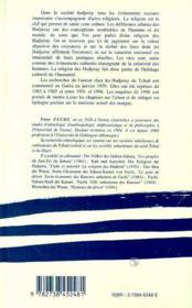 La religion des hadjeray - 4ème de couverture - Format classique