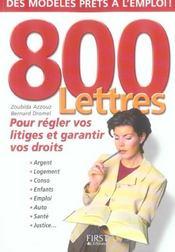 800 lettres pour regler vos litiges - Intérieur - Format classique