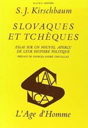 Slovaques Et Tcheques - Couverture - Format classique