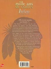 Mille ans de contes indiens - 4ème de couverture - Format classique