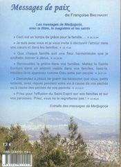 Messages De Paix, Aux Jeunes, Aux Familles Et Aux Pretres - 4ème de couverture - Format classique