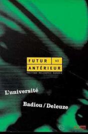 Futur Anterieur N.43 L'Universite - Couverture - Format classique