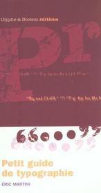 Petit guide de typographie - Intérieur - Format classique