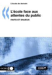 L'école face aux attentes du public : faits et enjeux - Intérieur - Format classique