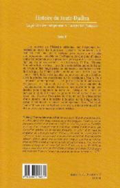 Histoire du Fouta-Djallon t.2 ; la pénétration européenne et l'occupation française - 4ème de couverture - Format classique