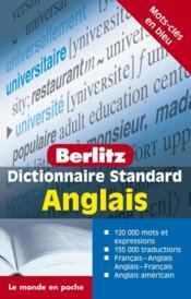 Dictionnaire standard Berlitz ; anglais - Couverture - Format classique