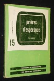 Prières d'espérance - Couverture - Format classique
