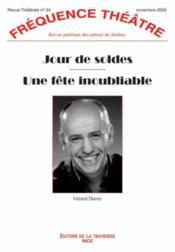 Revue Frequence Theatre N.34 ; Jour De Soldes ; Une Fête Inoubliable - Couverture - Format classique