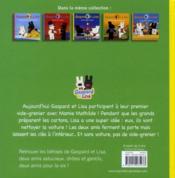 Gaspard et Lisa et le vide-grenier - 4ème de couverture - Format classique